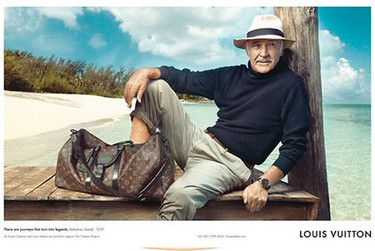 Sean Connery para Louis Vuitton por Annie Leibovitz