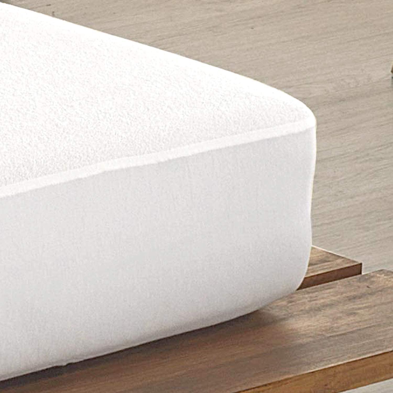 Todocama - Protector de colchón, de Rizo, Ajustable, 100% Impermeable con Tratamiento antiácaros, Fabricado con algodón biorgánico. (Cama 120 x 190/200 cm)