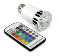 Lampara LED que cambia de color por mando a distancia