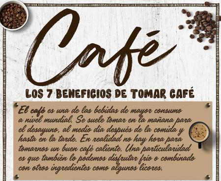 Te explicamos cuáles son los 7 beneficios de tomar café todos los días en una infografia