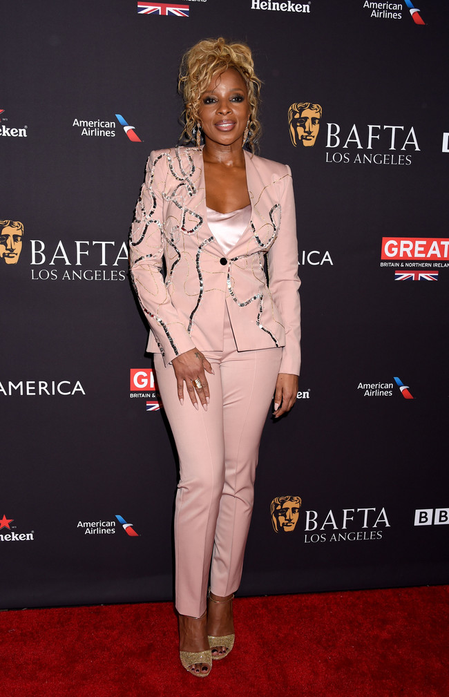 tea party bafta alfombra roja Mary J. Blige