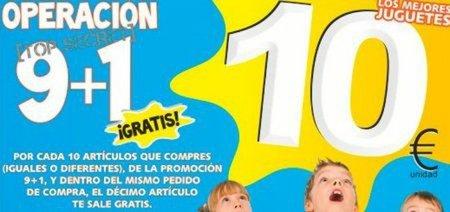 Llévate 10 y paga 9 juguetes en Juguetilandia