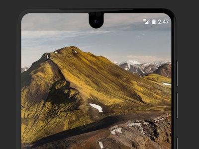 La barra de estado del Essential Phone es enorme
