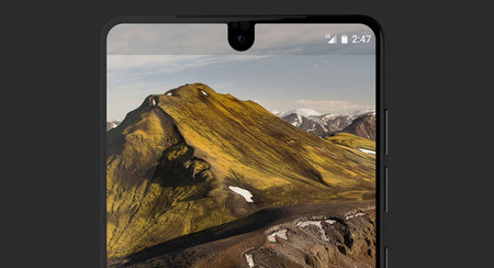 La barra de estado del Essential Phone es enorme