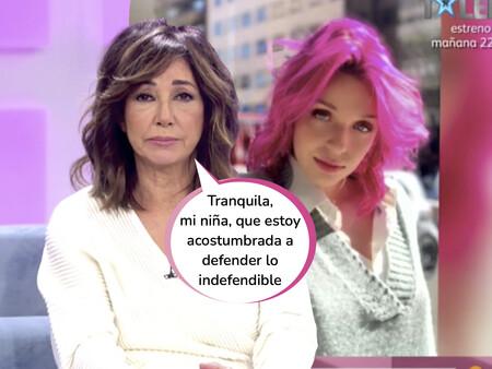 Ana Rosa Quintana justifica el irresponsable comportamiento de Zayra Gutiérrez, la hija negacionista de Guti y Arancha de Benito
