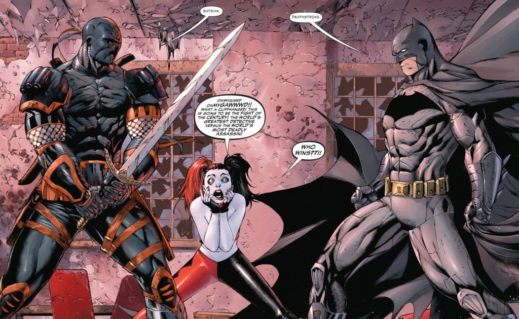 Deathstroke versus Batman en los cómics