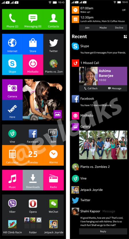 Nokia X Normandy UI