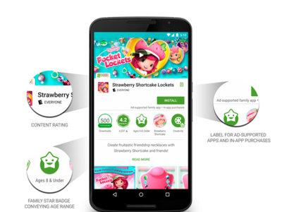 Google Play, ahora más amigable para el uso familiar