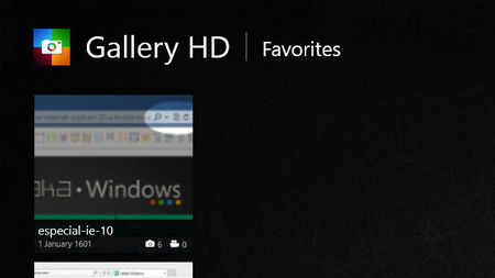 Gallery HD, favoritos