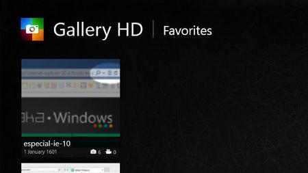 Gallery HD, favoritos