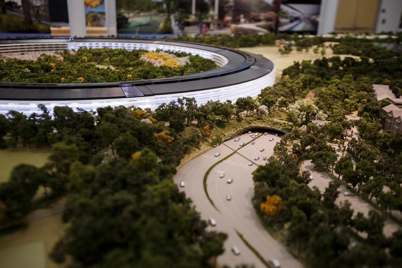 Maqueta del Campus 2 de Apple