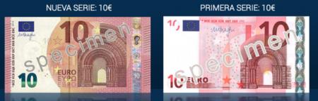 El nuevo billete de diez euros comienza a circular mañana