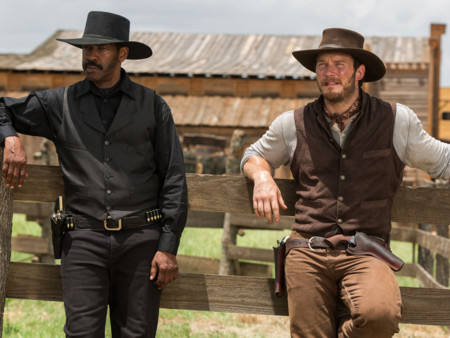 Denzel Washington Chris Pratt Los Siete Magnificos