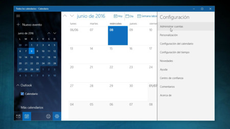 Calendario Windows 10