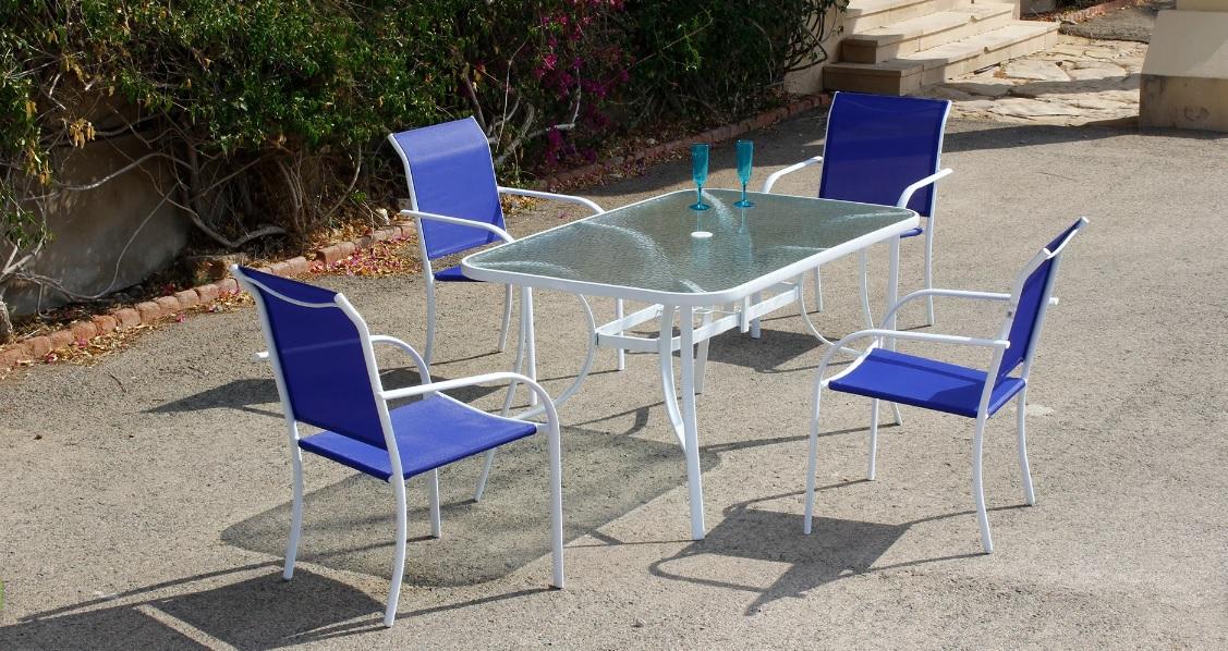 Set de mesa y 4 sillas