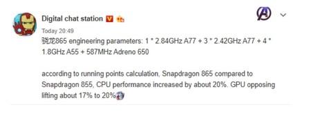 Filtración del Snapdragon 865