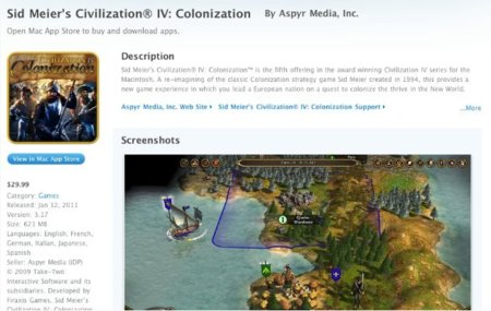 apple mac app store sid meier civilization iv juego