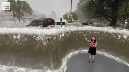 Entender el poder y capacidad de destrucción del huracán 'Florence' es más sencillo cuando se usa realidad mixta y Unreal Engine
