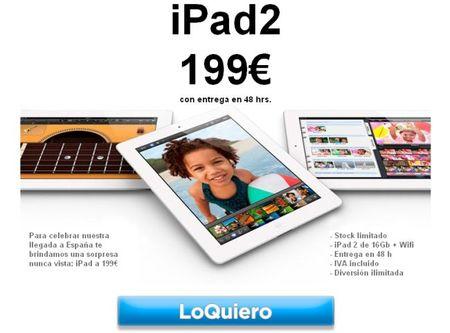 Xopso, ofertas de 24h: hoy Ipad2 por 199 euros ¡corre!