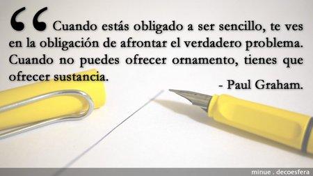 La sencillez según Paul Graham