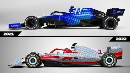Formula 1 2022 autos regulaciones comparación 7