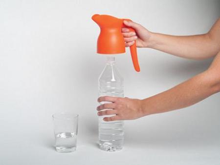 Gerra, botella convertida en jarra