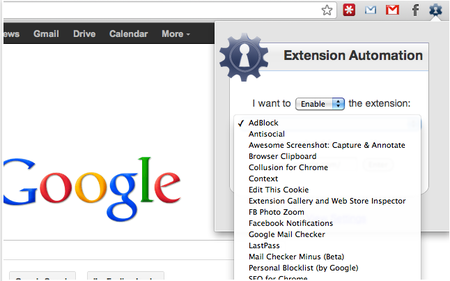 Extension Automation Chrome Web Store