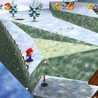 Super Mario 64: cómo conseguir la estrella Frosty Slide for 8 Red Coins de Cool, Cool Mountain