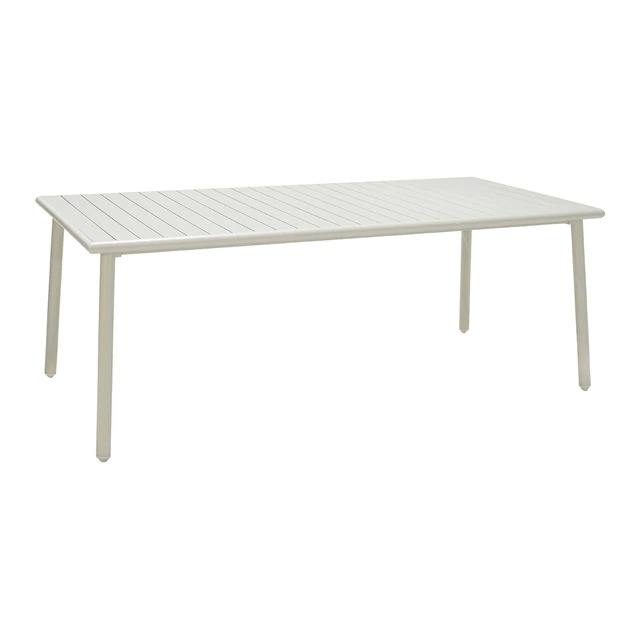 Mesa de comedor de jardín de aluminio Icaria