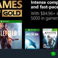 Juegos de Xbox Gold gratis para Xbox One y 360 de noviembre 2018