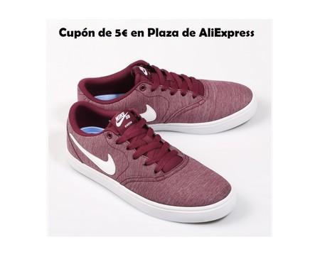 Cupón de descuento de 5 euros en AliExpress Plaza para zapatillas de marcas como Nike, Adidas o New Balance