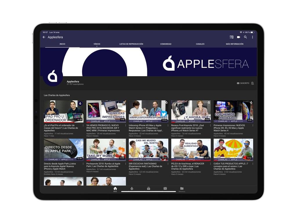 YouTube gana compatibilidad para las pantallas de los recientes iPad Pro y ahorita es peor que cuando no la tenía