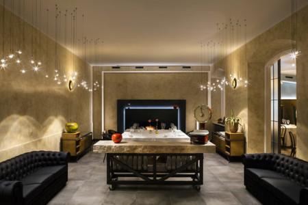 Así son las nuevas lámparas en blanco y oro de Castellani & Smith para el restaurante del Chef Enrico Bartolini