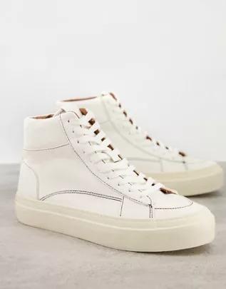 Zapatillas color blanco hueso con cordones de lona de ASOS DESIGN