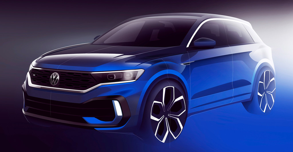 El Volkswagen T-Roc R se asoma en un primer teaser y confirma su debut en Ginebra