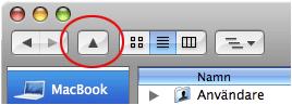 UP: Añade un botón de navegación a Finder