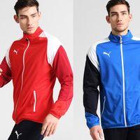 Chollo en Zalando: chaqueta   chándal Puma Esito en rojo o azul por 21,45 euros tras 50% de descuento. Envío gratis