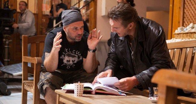 Olivier Megaton y Liam Neeson