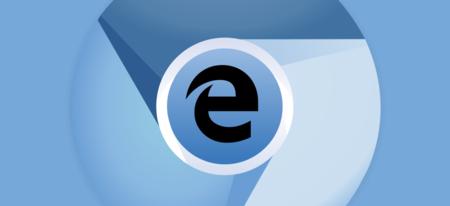 Logo di Chromium, con al centro il logo di Microsoft Edge