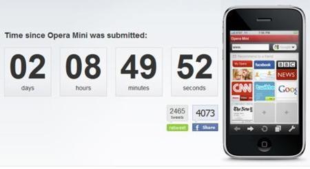 Opera Mini enfrentado a Safari, mientras espera la aprobación de Apple