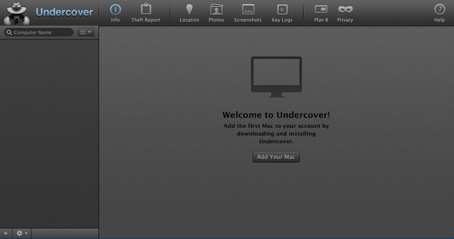 Welcome to Undercover, agrega tu Mac aquí