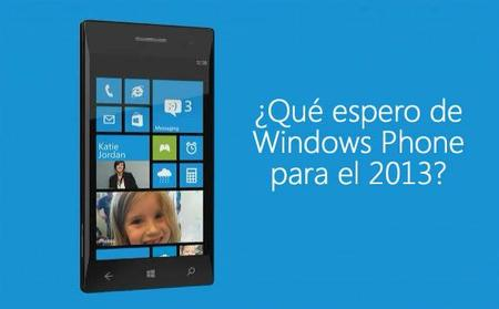 Qué espero de Windows Phone para el 2013