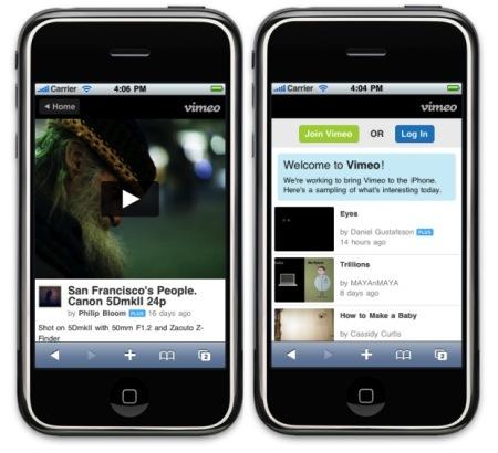 Vimeo lanza la versión móvil de su web para iPhone y Android