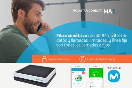 Movistar aumenta 5 GB gratis su combinado de fibra y móvil Conecta Max