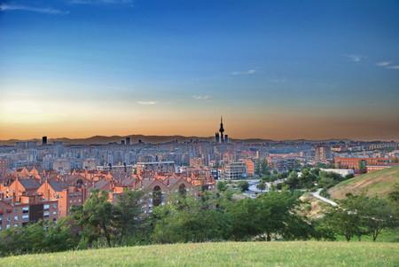 Madrid Skyline Cerro Del Tio Pio
