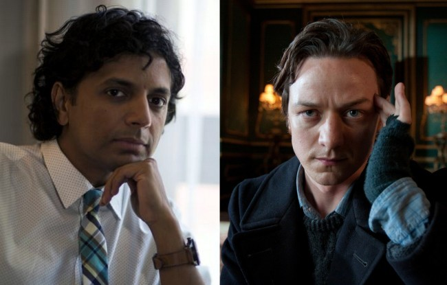 Shyamalan y James McAvoy