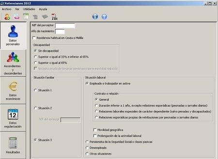 Disponible el programa de cálculo de retenciones de IRPF 2012 de la AEAT