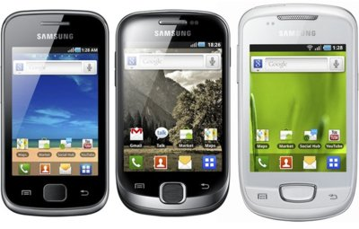 Samsung Galaxy Gio, Fit y Mini: Android para las masas