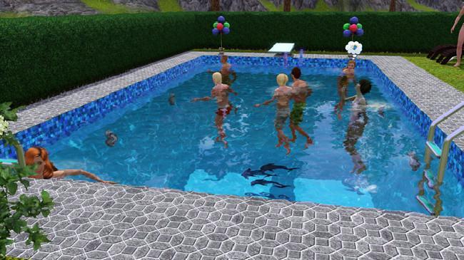 The sims 4 sin ni os y sin piscinas for Piscina sims 4