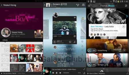 Samsung Galaxy S5 con un nuevo reproductor de música